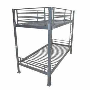 """Sussex Beds - 2'6"""" Small Single Carterton Silver Bunk Bed Frame"""