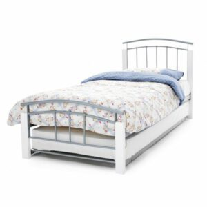 Sussex Beds - 3'0'' Guest Bed - White & Silver