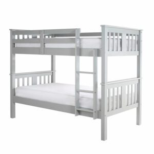 "Sussex Beds - 3'0"" Single Evesham Grey Bunk Bed"
