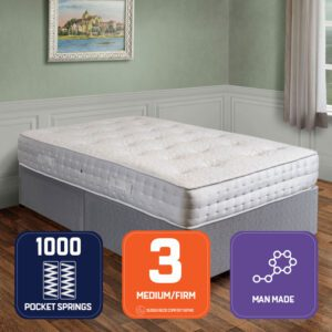 """Sussex Beds - 2'6"""" Small Single Galaxy Pocket Divan Bed"""