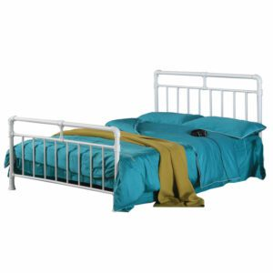 """Sussex Beds - 3'0"""" Single Ilminster White Metal Bed Frame"""