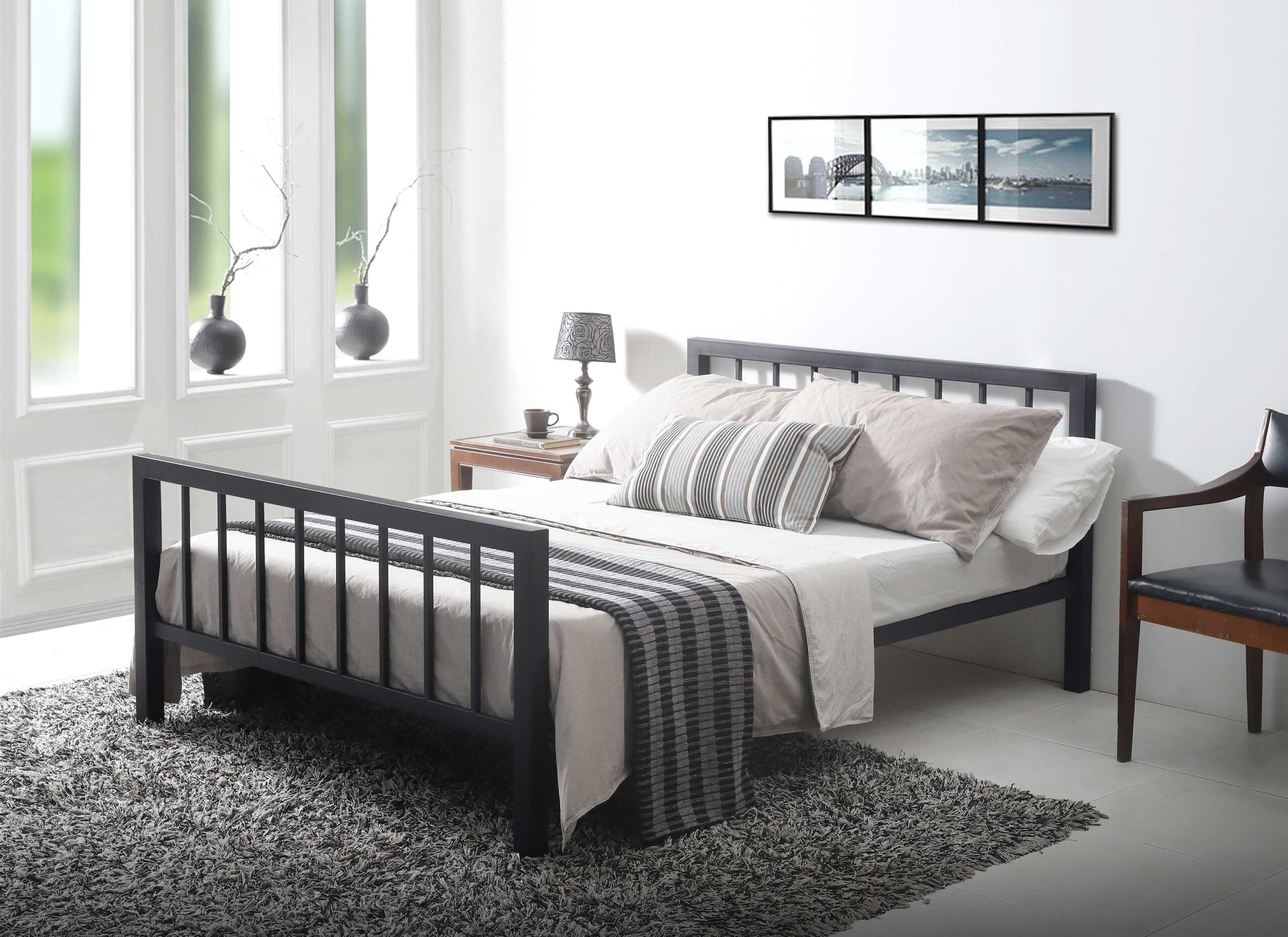 Picture of: 5 0 King Size Waltham Black Bed Frame Sussex Beds