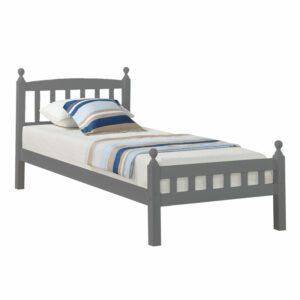 "Sussex Beds - 3'0"" Single Middleham Grey Solid Pine Bed Frame"