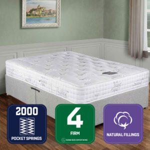 """Sussex Beds - 3'0"""" Single Pocket Superior Divan Bed"""