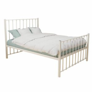"""Sussex Beds - 4'0"""" Small Double Tynemoth Ivory HFE Bed Frame"""
