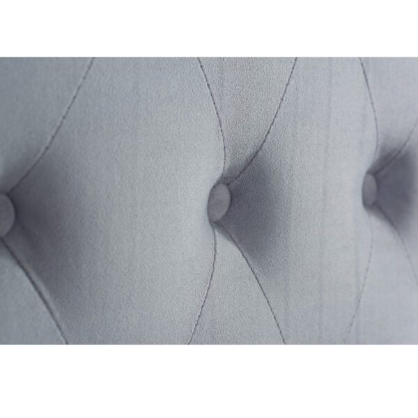 """Sussex Beds - 4'6"""" Double Alford Grey Velvet Bed Frame"""