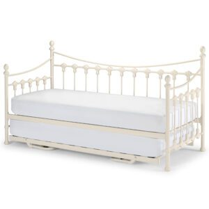 """Sussex Beds - 3'0"""" Single Ashford Stone White Day Bed Inc. Underbed"""