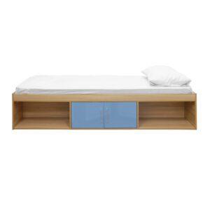 """Sussex Beds - 3'0"""" Single Bedworth Oak/Blue Cabin Bed"""