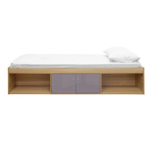 """Sussex Beds - 3'0"""" Single Bedworth Oak/Taupe Grey Cabin Bed"""