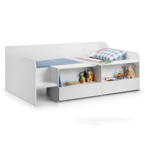 Sussex Beds - Brooklyn Low Sleeper in White