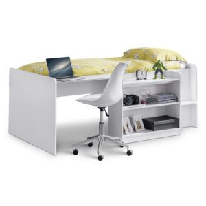 Sussex Beds - Columbus White Mid Sleeper