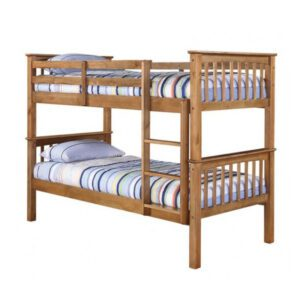 """Sussex Beds - 3'0"""" Single Dawlish Antique Wax Bunk Bed"""