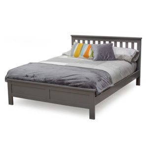 """Sussex Beds - 4'6"""" Double Harewood Grey Bed Frame"""