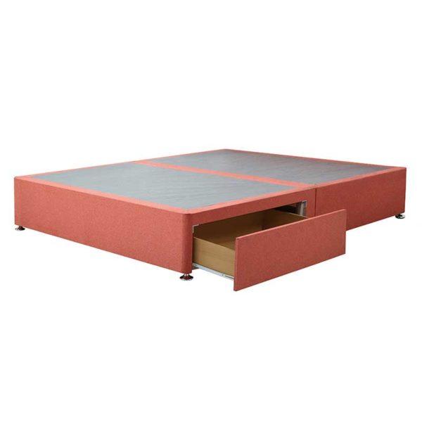 "Sussex Beds - 4'0"" Small Double Paris Platform Top 2 Drawer Base"