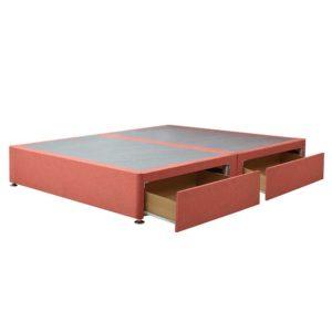 "Sussex Beds - 4'0"" Small Double Paris Platform Top 2 Drawer Base (Same-Side)"