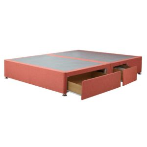 "Sussex Beds - 4'0"" Small Double Paris Platform Top 2+2 Drawer Base"