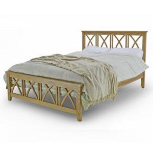 """Sussex Beds - 4'6"""" Double Prestwood Oak Bed Frame"""