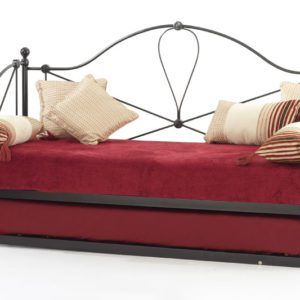 "Sussex Beds - 2'6"" Elo Black Day Bed with Guest Bed"