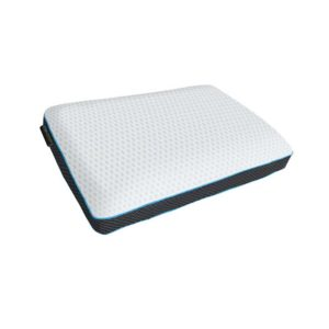 Gel Plush pillow, gel infused memory foam pillow with white fabric cover and mesh borders - Sussex Beds