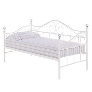 """Sussex Beds - 3'0"""" Single Kemsing White Day Bed"""