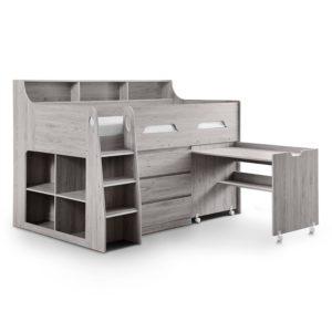 Sussex Beds - Manhattan Grey Oak Mid Sleeper
