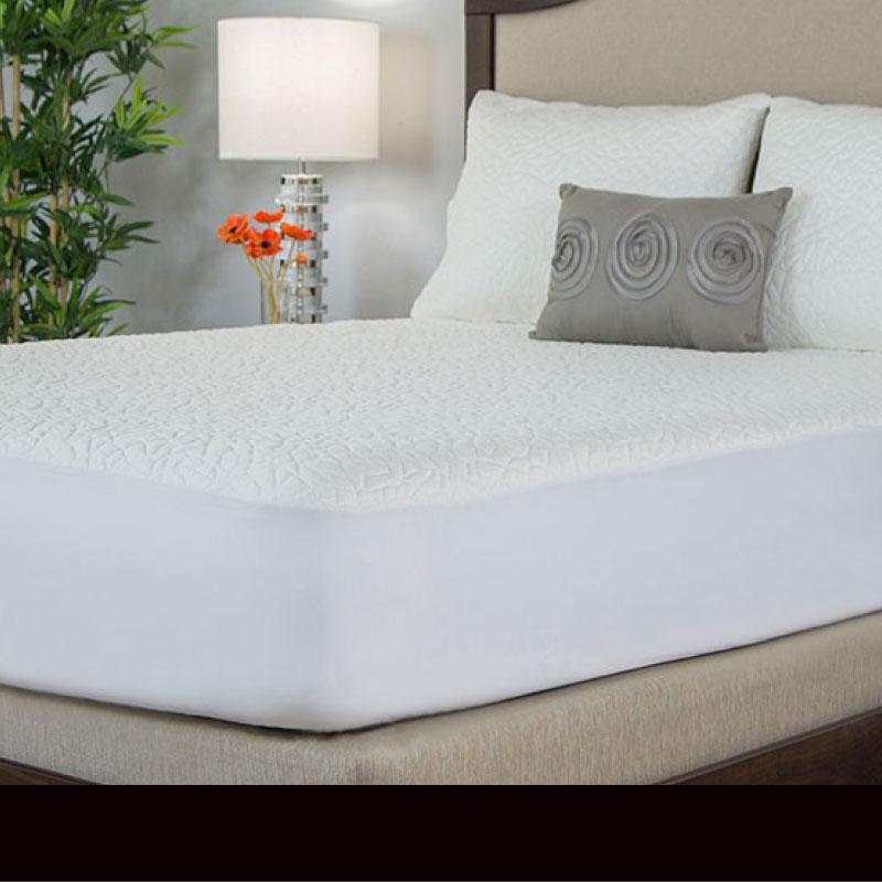 mattress protector on a mattress - sussex beds