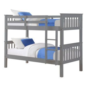 """Sussex Beds - 3'0"""" Single Michigan Grey Bunk Frame"""