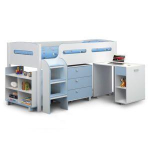 Sussex Beds - Oregon White/Blue Cabin Bed