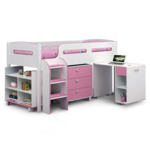 Sussex Beds - Oregon White/Pink Cabin Bed