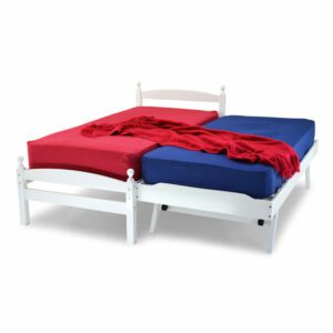 """Sussex Beds - 3'0"""" Single Newquay White Guest Bed Frame"""