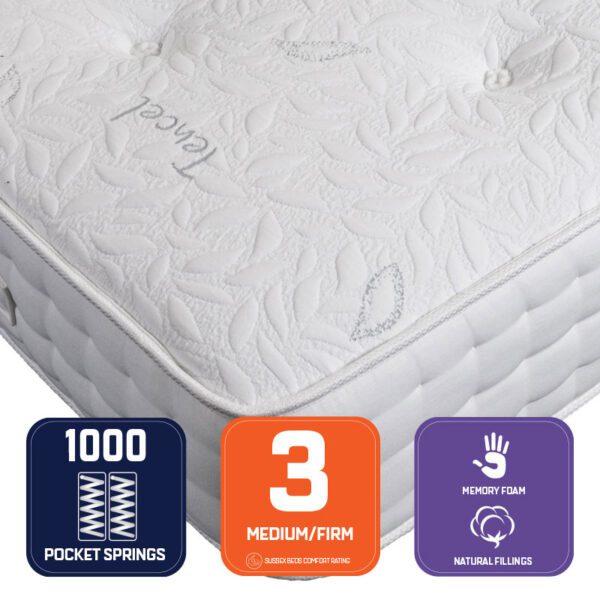 peridot-mattress with leaf print on