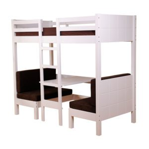 "Sussex Beds - 3'0"" Phoenix White High Sleeper"