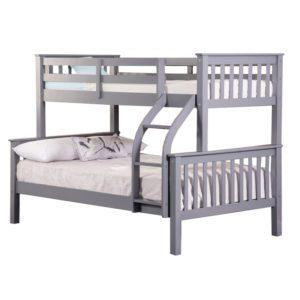 Sussex Beds - Richmond Grey 3 Sleeper Bunk Frame