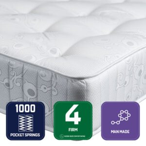 """Sussex Beds - 2'6"""" Small Single Morion Mattress"""