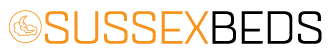 Sussex Beds Logo in orange and black