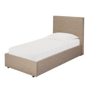 "Sussex Beds - 3'0"" Single Brenzett Beige Bed Frame"