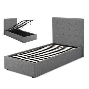 "Sussex Beds - 3'0"" Single Brenzett Grey Ottoman Bed Frame"