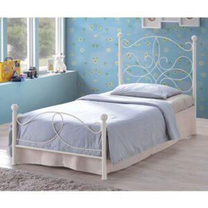 "Sussex Beds - 3'0"" Single Clevedon Bed Ivory Bed Frame"
