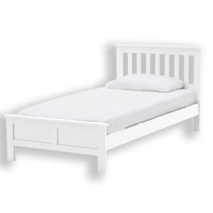 """Sussex Beds - 3'0"""" Single Harewood White Bed Frame"""