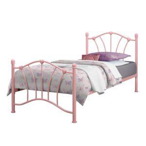 """Sussex Beds - 3'0"""" Single Malibu Pink Bed Frame"""