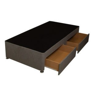 """Sussex Beds - 2'6"""" Small Single Milano Platform Top 2 Drawer Base"""