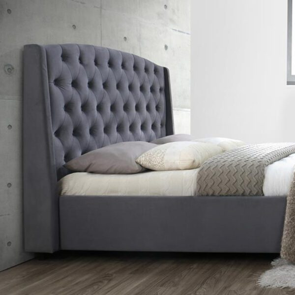 """Sussex Beds - 4'6"""" Double Smarden Grey Bed Frame"""