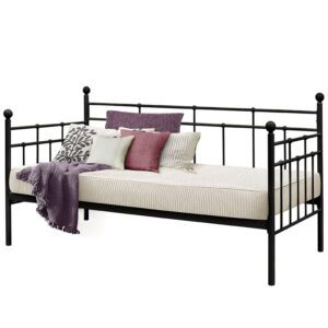 """Sussex Beds - 3'0"""" Single Torino Black Day Bed"""
