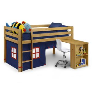 Sussex Beds - Washington Pine Cabin Bed with Blue Tent