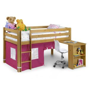 Sussex Beds - Washington Pine Cabin Bed with Pink Tent
