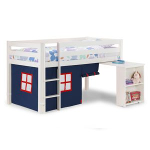 Sussex Beds - Washington White Cabin Bed with Blue Tent