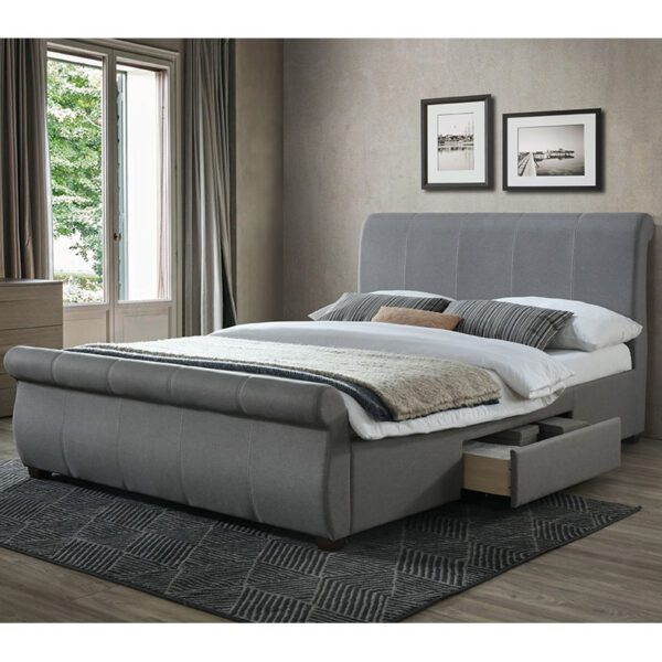 """Sussex Beds - 4'6"""" Double Wormley Grey Bed Frame"""
